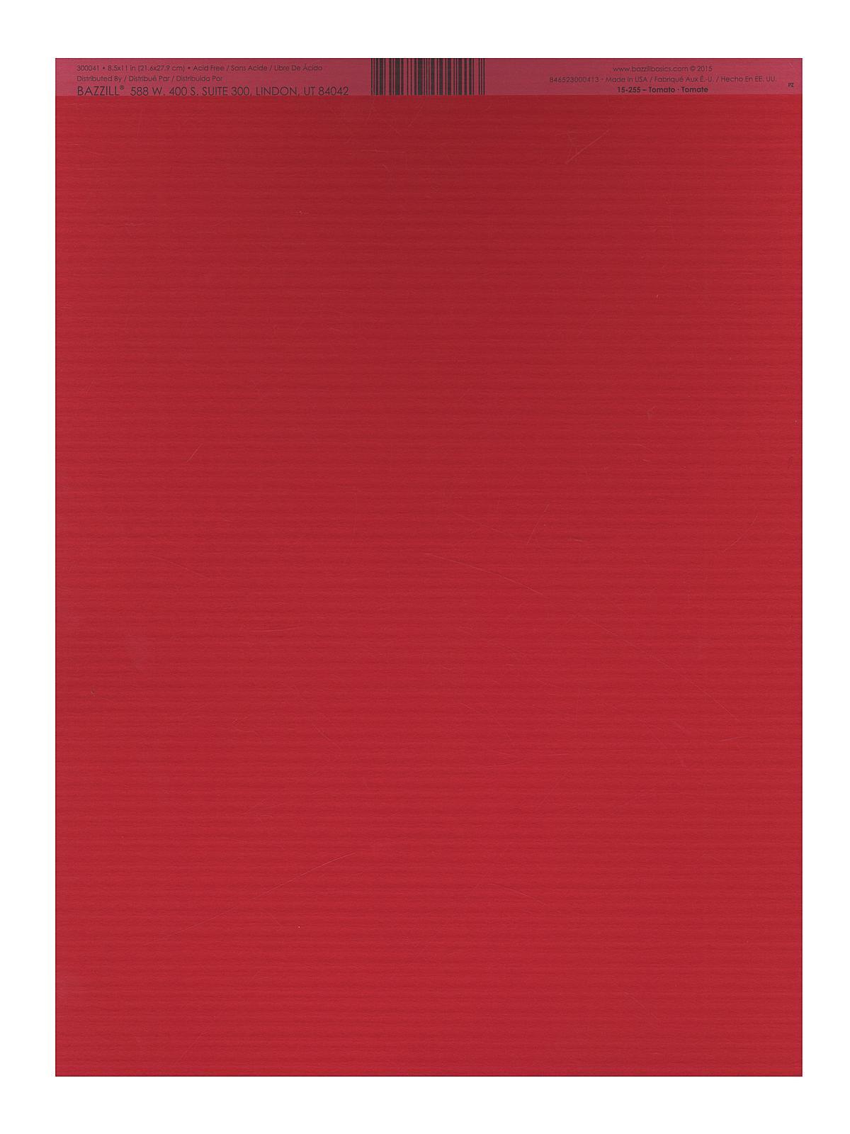 Classic Cardstock 8 1 2 In. X 11 In. Tomato Sheet