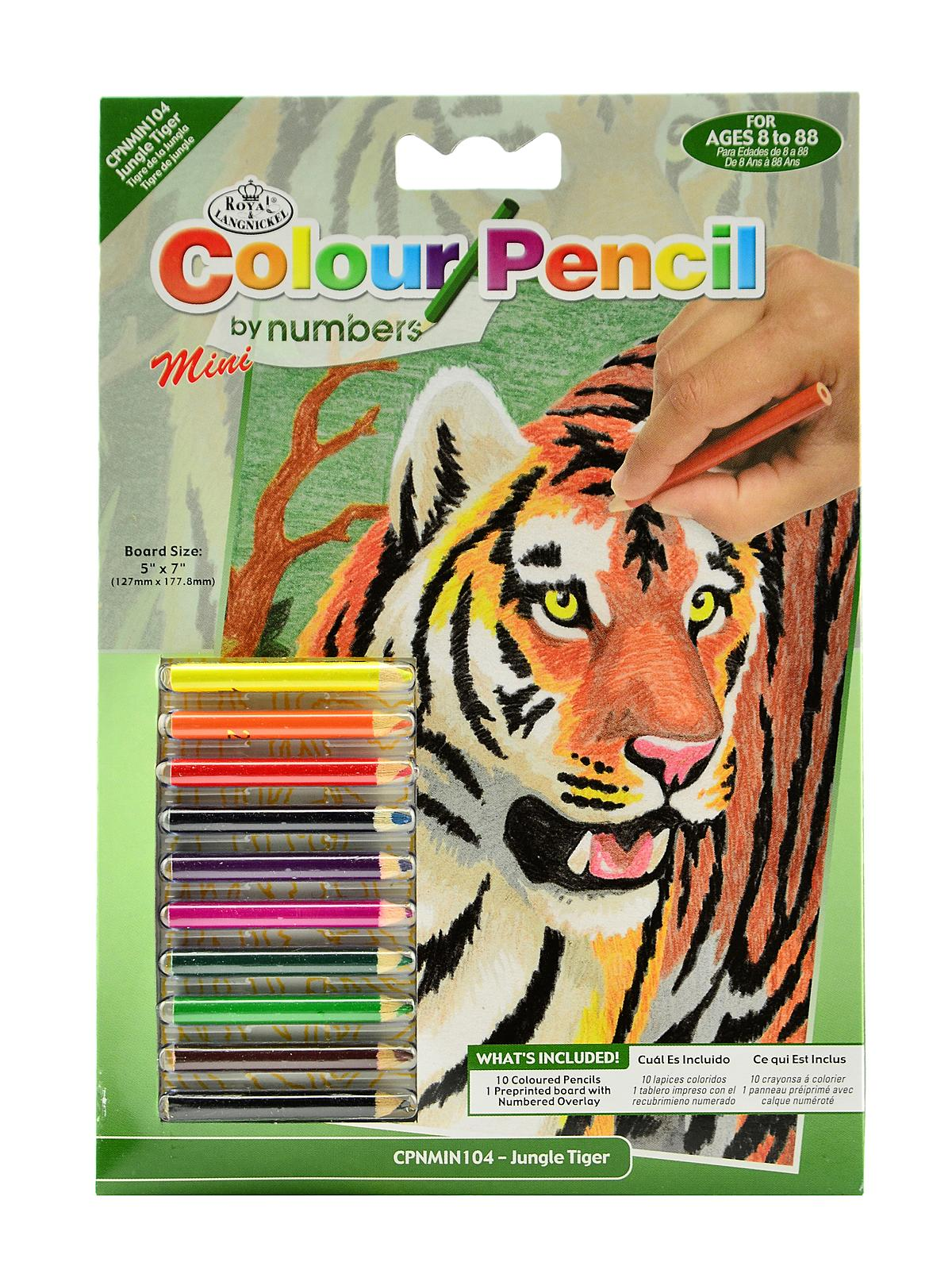 Colour By Number Kits : Royal & Langnickel Mini Color Pencil By Number Kits MisterArt.com