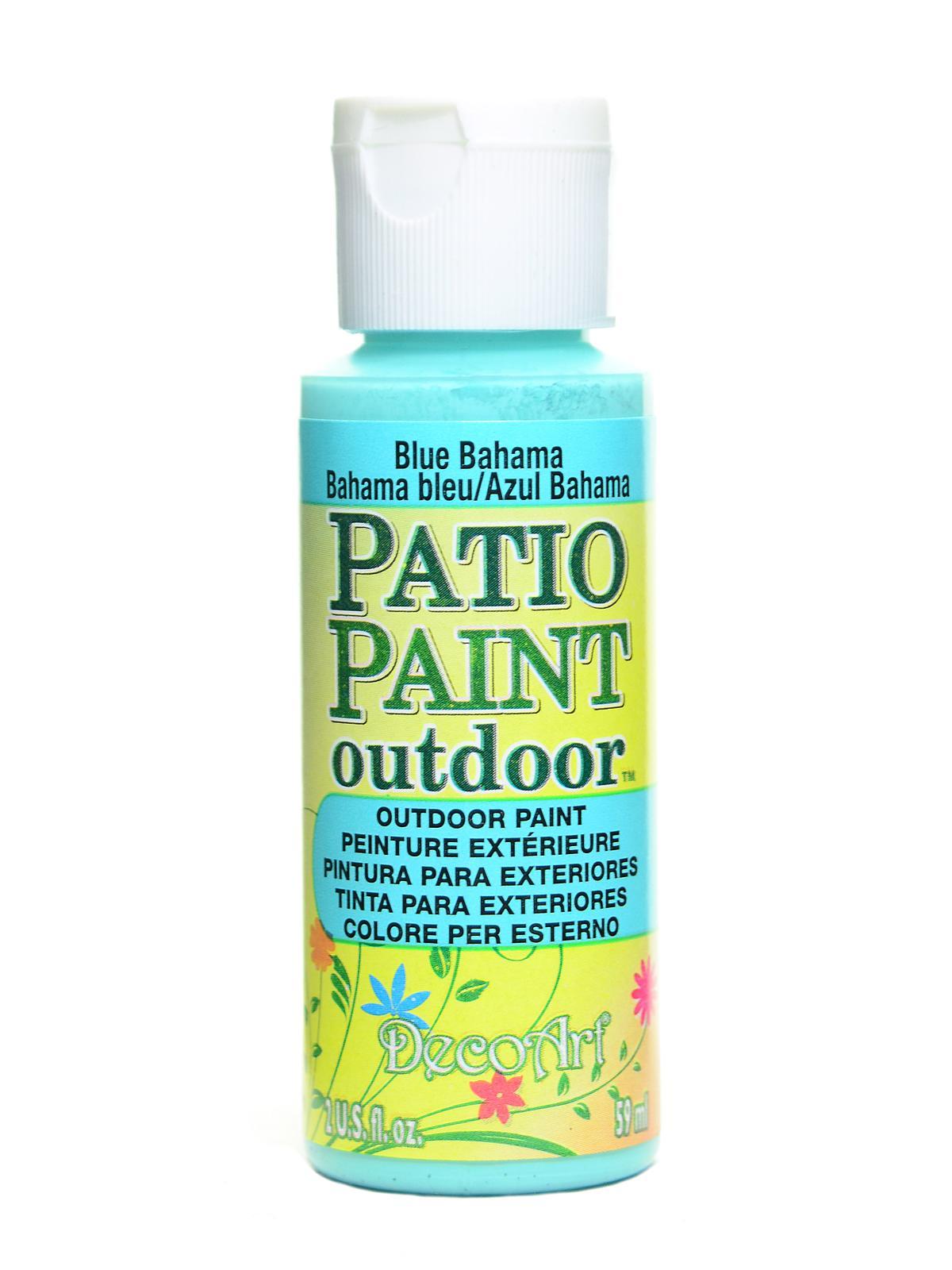 Patio Paint blue bahama 2 oz. - DecoArt Patio Paint MisterArt.com