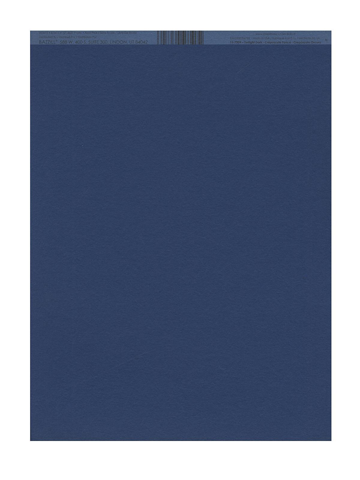 Classic Cardstock 8 1 2 In. X 11 In. Twilight Dark Sheet