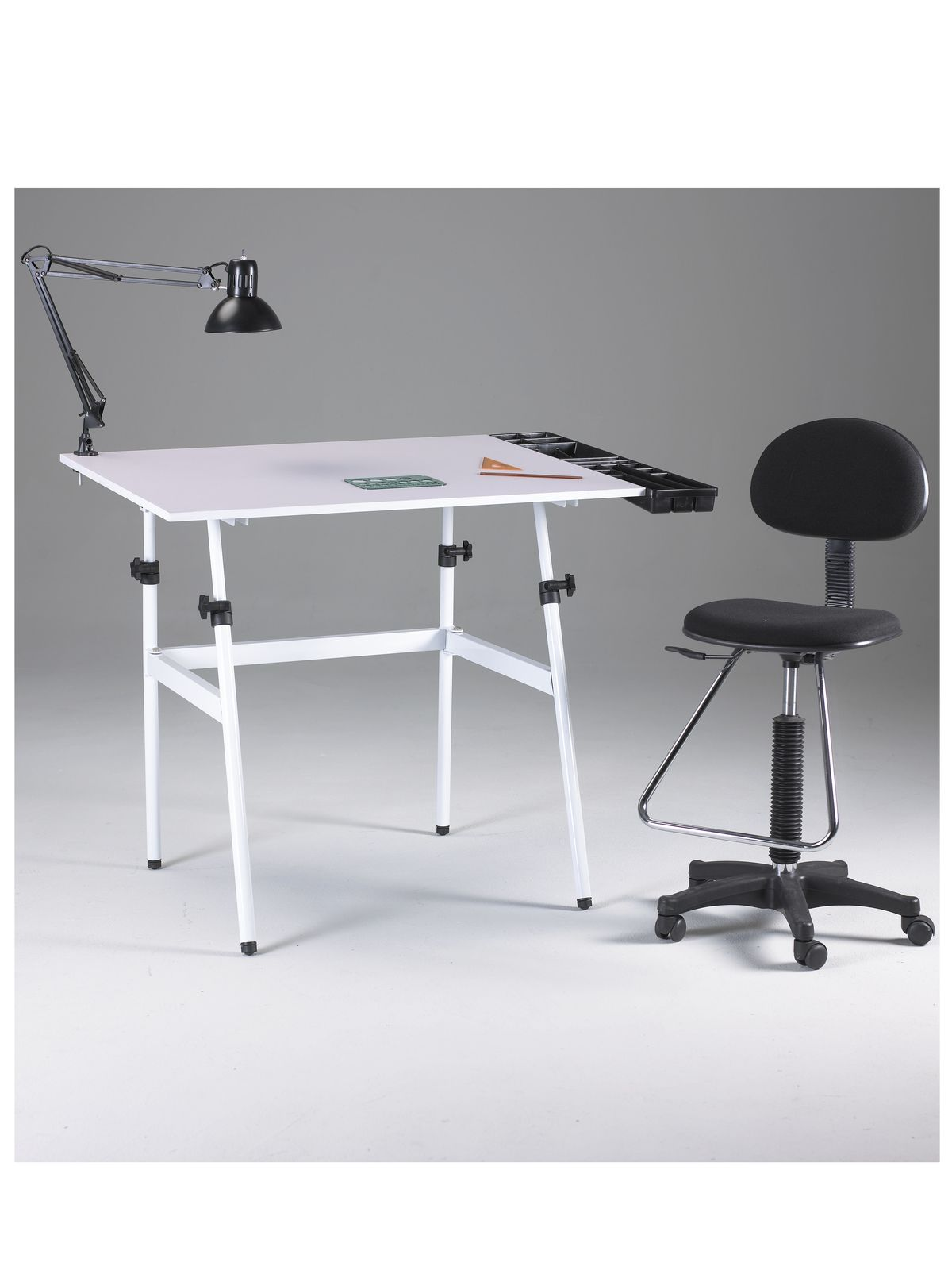The Berkeley Clic Drafting Table Combo With Height Chair