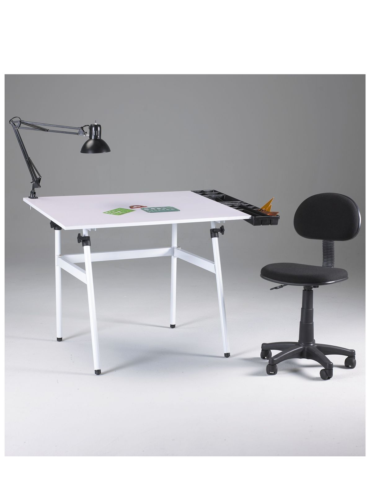 The Berkeley Classic Drafting Table Combo With Desk Height Chair