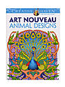 Creative Haven Coloring Books Art Nouveau Animal Designs