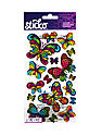 Classic Stickers stained glass butterfly 17 pieces