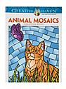 Creative Haven Coloring Books Animal Mosaics