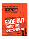 Fade-Out Design and Sketch Vellum - Grid Pad 8 x 8 8 1/2 in. x 11 in. pad of 50