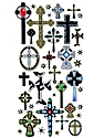 Classic Stickers crosses 38 pieces