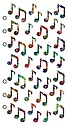 Classic Stickers jazzy notes 39 pieces