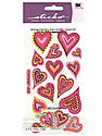 Classic Stickers expressive hearts 16 pieces