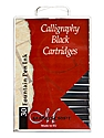 Calligraphy Ink Cartridges black pack of 30