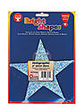 Bright Shape Cut Outs stars 6 in. holographic silver
