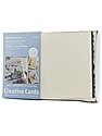 Blank Greeting Cards with Envelopes white with green deckle pack of 50