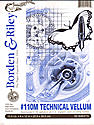 #110M Technical Vellum 9 in. x 12 in. pad