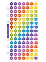Classic Stickers jelly flowers 105 pieces