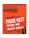 Fade-Out Design and Sketch Vellum - Grid Pad 10 x 10 8 1/2 in. x 11 in. pad of 50