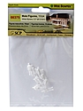 Architectural Model White Styrene Figurines human males 5/16 in. pack of 10