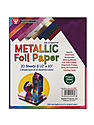 Metallic Foil Paper 8.5 in. x 10 in. pack of 20 10 assorted colors