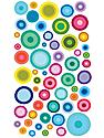 Classic Stickers color bubbles 56 pieces