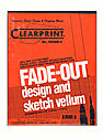 Fade-Out Design and Sketch Vellum - Grid Pad 4 x 4 8 1/2 in. x 11 in. pad of 50