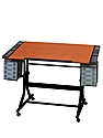 CraftMaster II Deluxe Hobby and Drawing Station black base, cherry woodgrain top