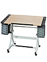CraftMaster II Deluxe Hobby and Drawing Station white base, light woodgrain top